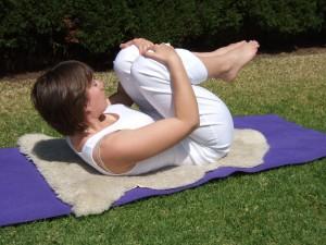 Kundalini Yoga posture - gas pose
